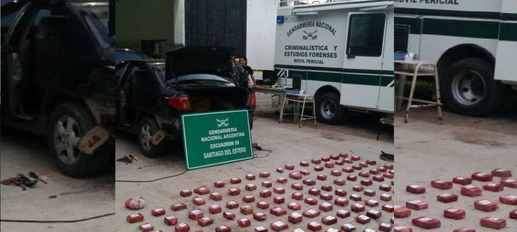 Gendarmería secuestró más de 50 kilos de marihuana en un control vehicular