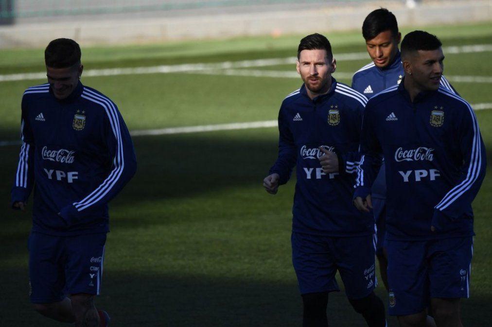 Messi volvió a vestir la ropa de la Selección después de ocho meses