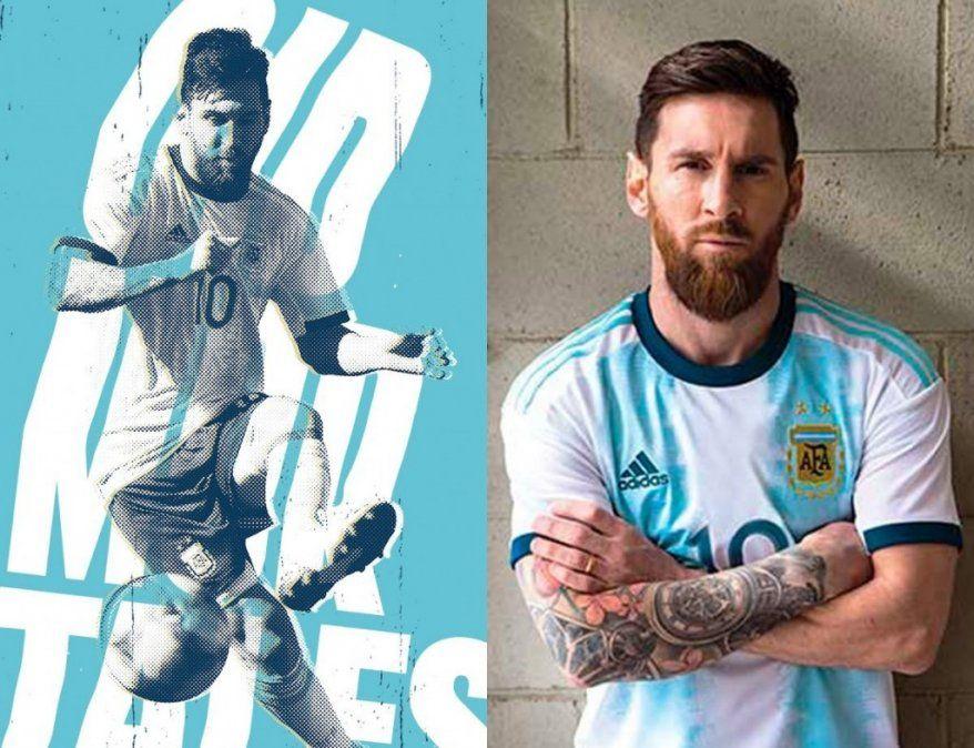 Con Messi a la cabeza, la Selección Argentina reveló su camiseta para la Copa América