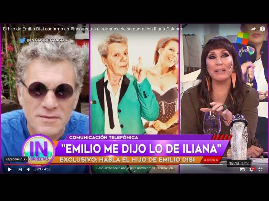 El hijo de Emilio Disi desmintió a Iliana Calabró y aseguró que su padre le contó sobre el romance con la actriz