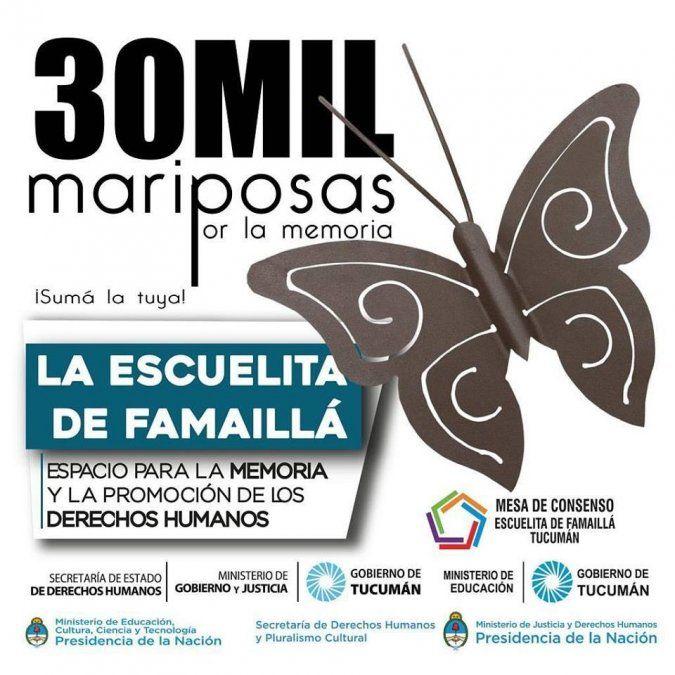 30 mil mariposas por la Memoria, una de las actividades de la Escuelita de Famaillá