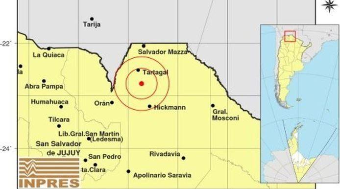 Se registró un sismo de casi 5º en la ciudad de Tartagal