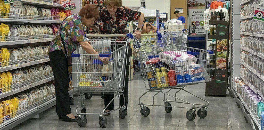 Caída en las ventas en supermercados y shoppings