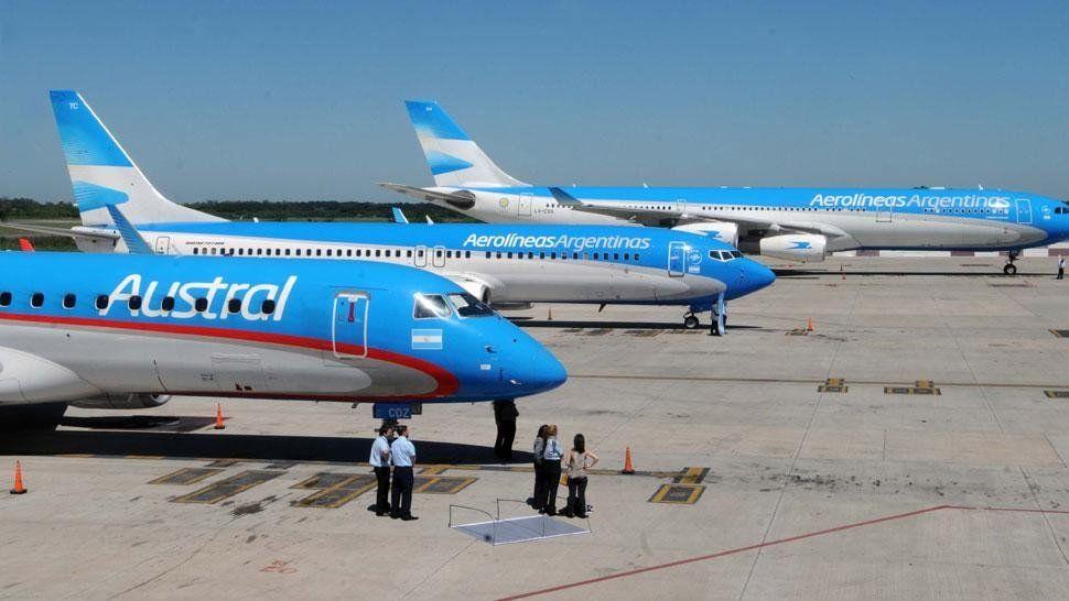 Aerolíneas Argentinas y Austral no realizarán vuelos el próximo viernes