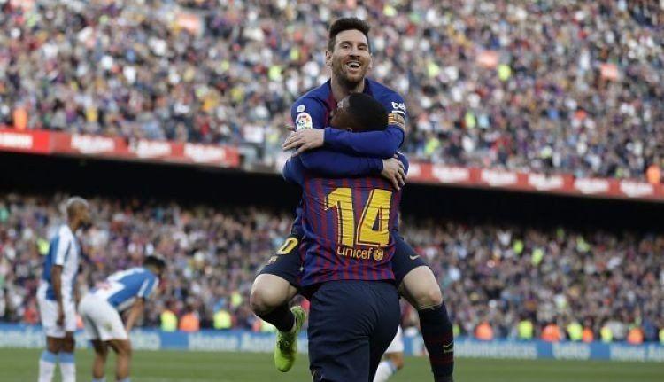 Con un doblete de Lionel Messi, Barcelona venció al Espanyol