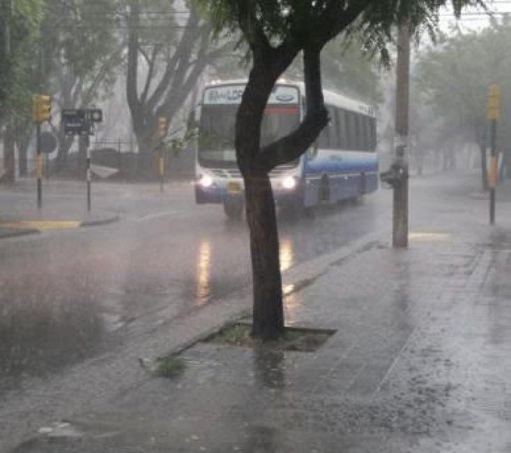 Abundante caída de agua en la ciudad de Salta y el Valle de Lerma