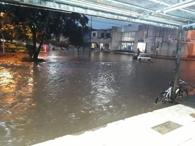 Hubo lluvias intensas y fuertes vientos en algunas localidades del sur