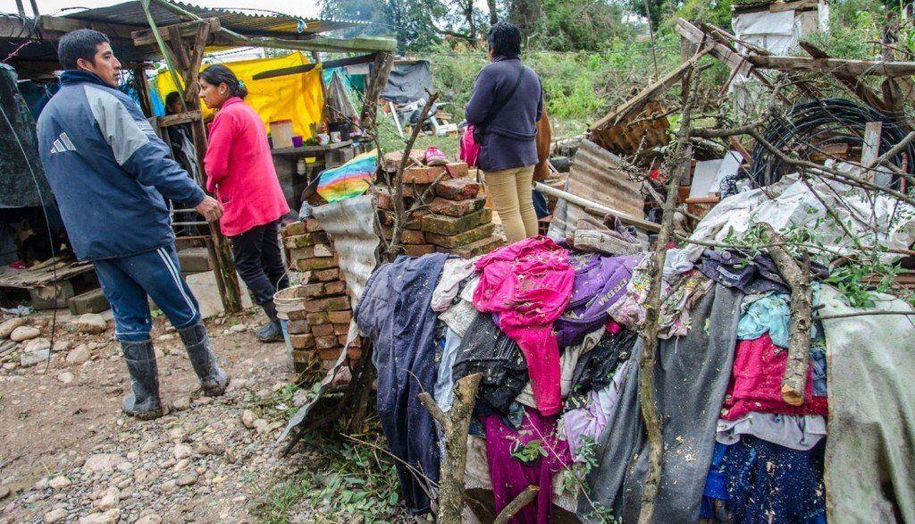 Familias salteñas perdieron todo por el temporal caído en la provincia