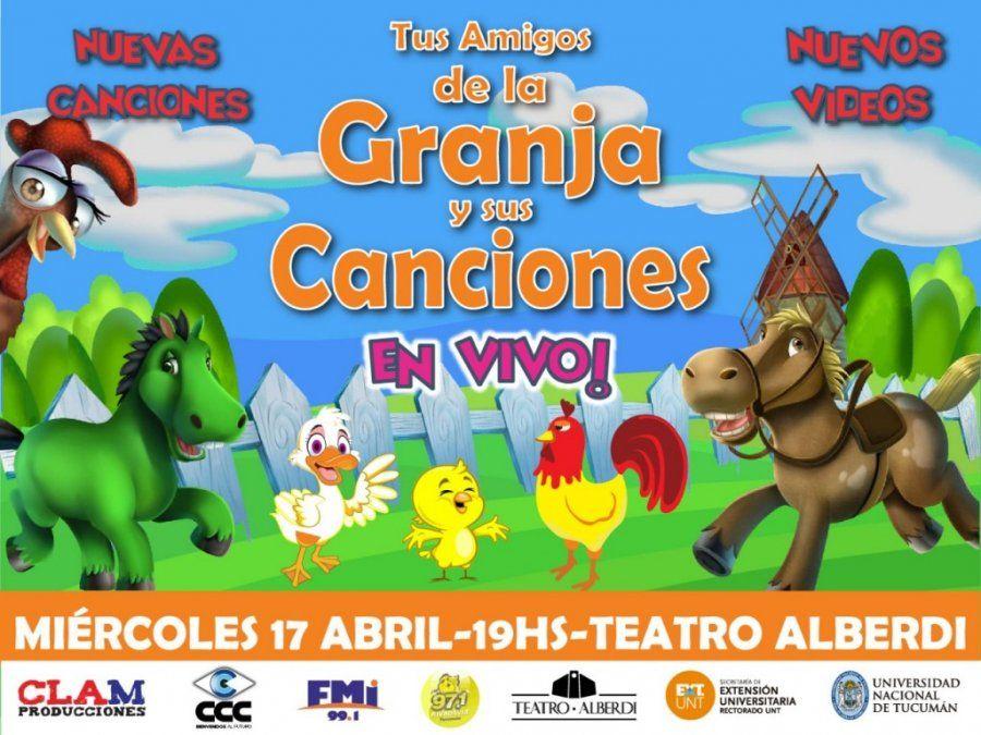 Los niños cantarán con los personajes de La Granja
