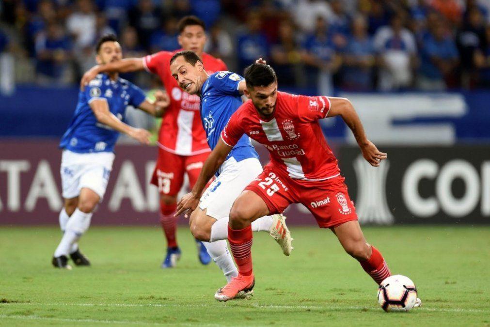 Huracán perdió 4-0 ante el Cruzeiro por la Copa Libertadores