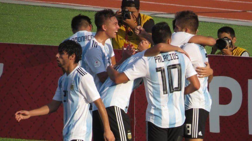 La selección sub 17 se clasificó al Mundial tras ganarle a Paraguay