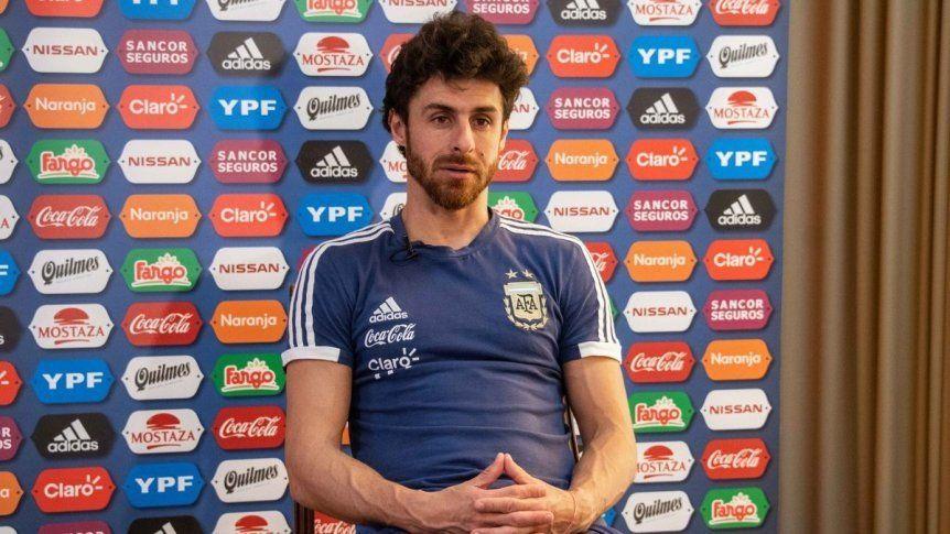 La satisfacción de Aimar tras la victoria ante Paraguay