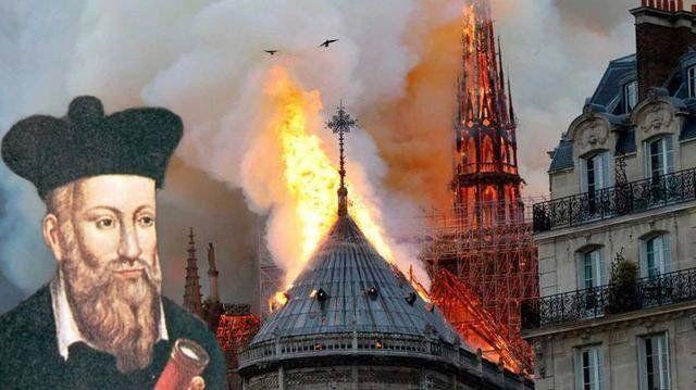 Una profecía de Nostradamus ¿predijo el incendio de la Catedral?