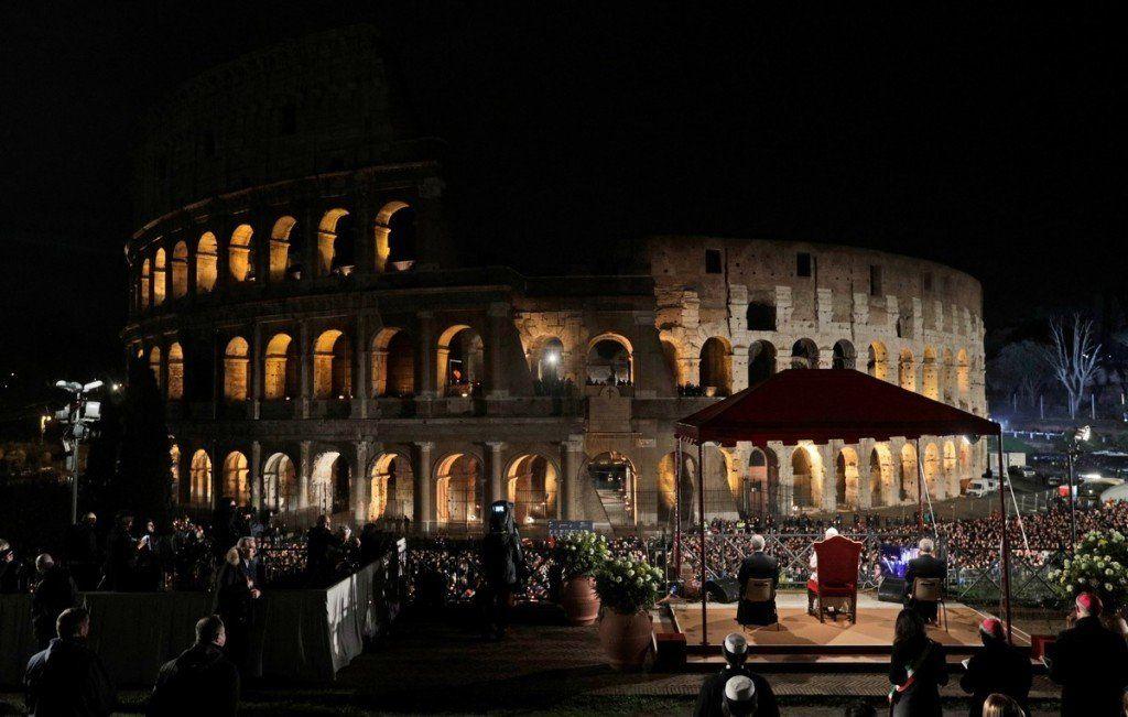 Roma se prepara para el Vía Crucis