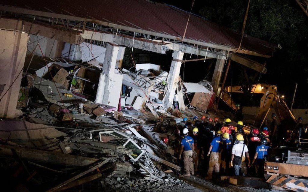 Hasta ahora son 16 los muertos por el  terremoto de M6,1 en Filipinas
