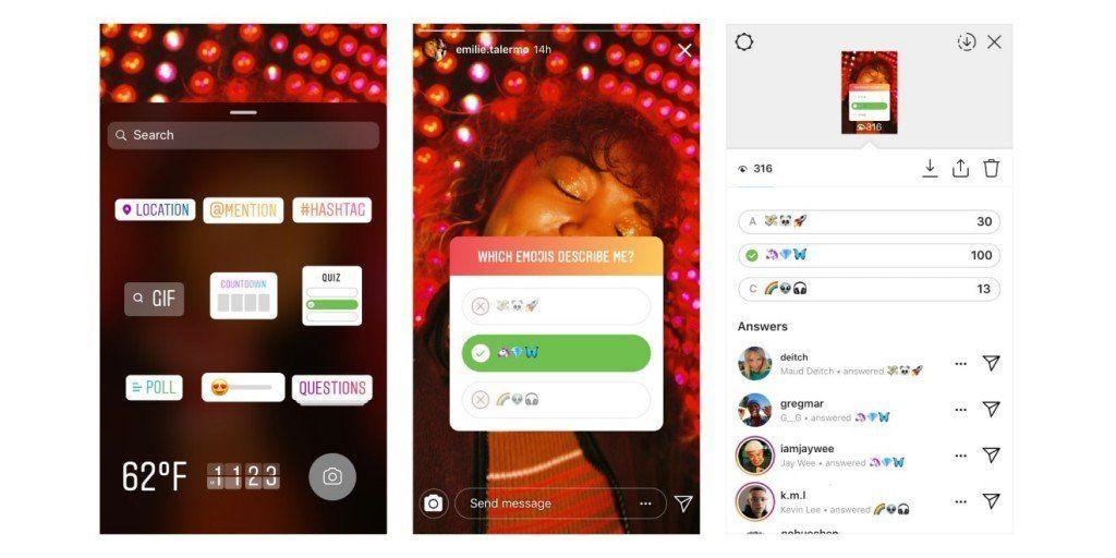 Las Quiz con opciones debutaron en las historias de Instagram