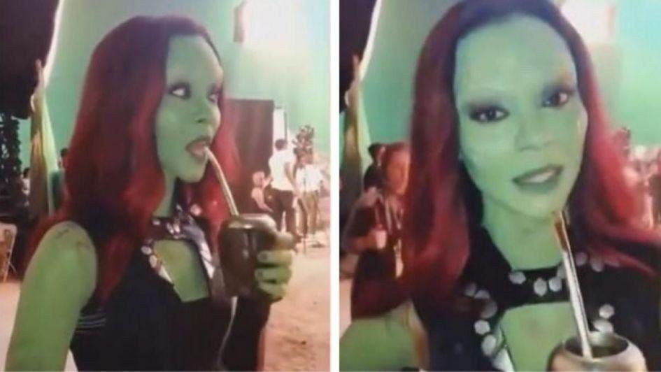 La perla argentina de Avengers: una protagonista tomó mate en el set de filmación