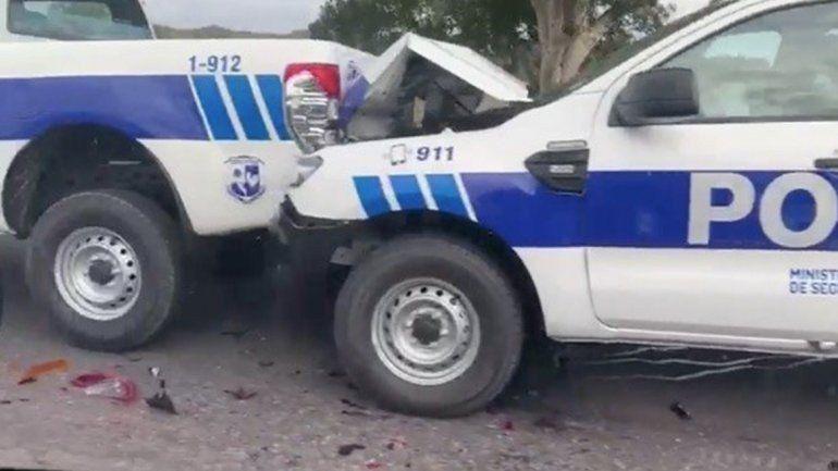 San Luis: iban a entregar patrulleros OKM pero los terminaron chocando
