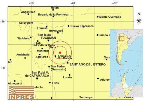 Un temblor de 3,4 en la escala Richter sacudió a Termas de Río Hondo
