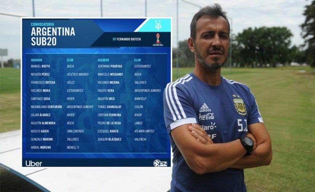 Se dio a conocer la lista de Argentina para el Mundial Sub 20