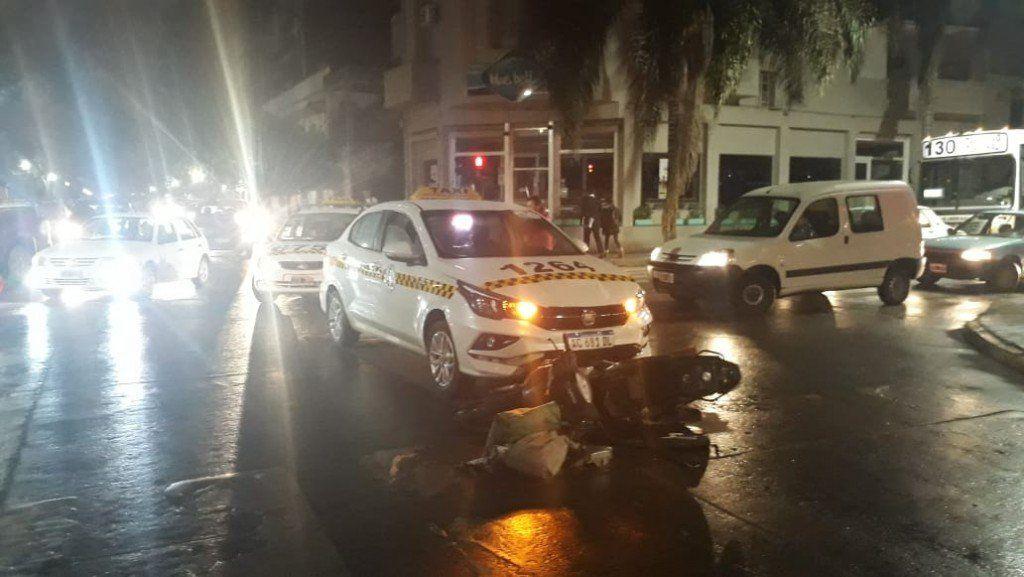 Accidente de tránsito en la esquina de 25 de Mayo y Marcos Paz