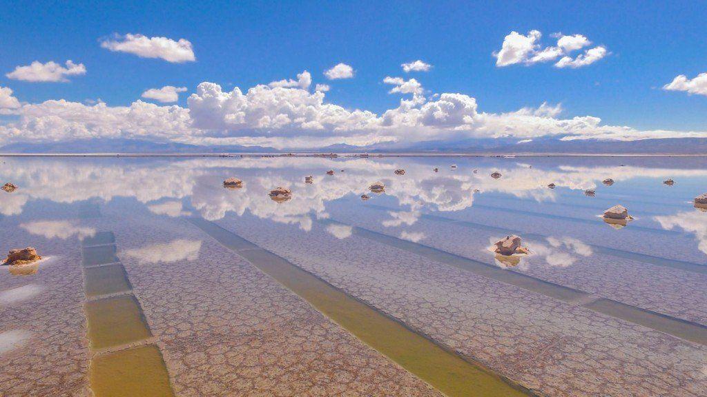 Las Salinas Grandes de Jujuy es una de las Siete Maravillas Naturales