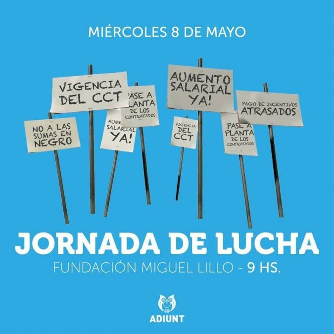 Docentes universitarios protestarán en la Fundación Miguel Lillo