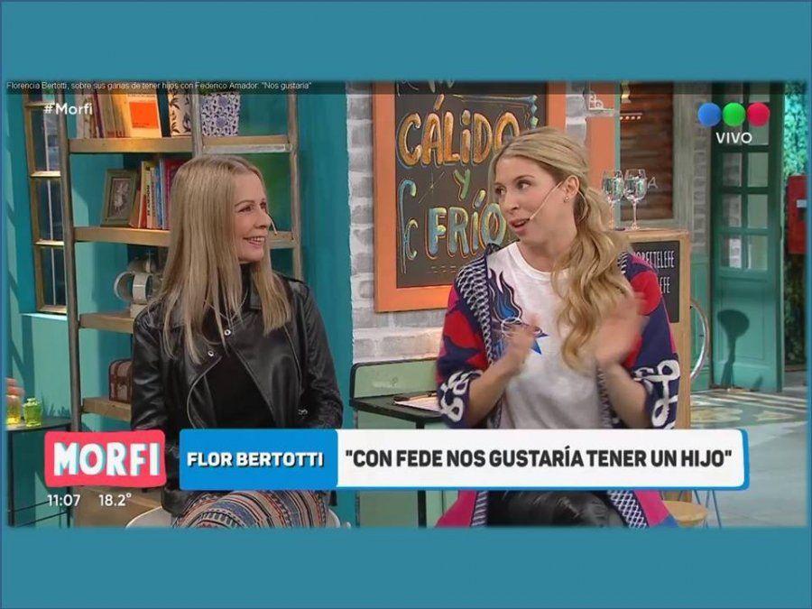Florencia Bertotti y sus ganas de tener hijos con Federico Amador