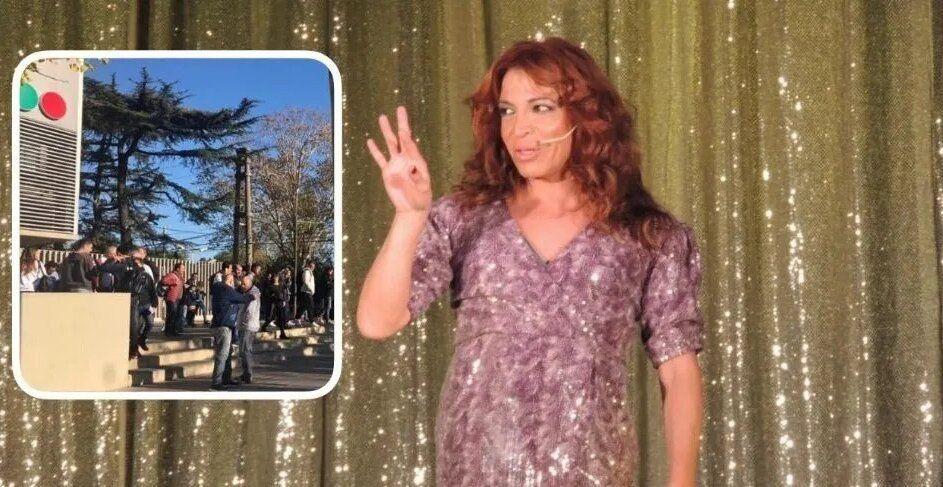 Hubo amenaza de bomba en Telefe y Lizy Tagliani salió en bata
