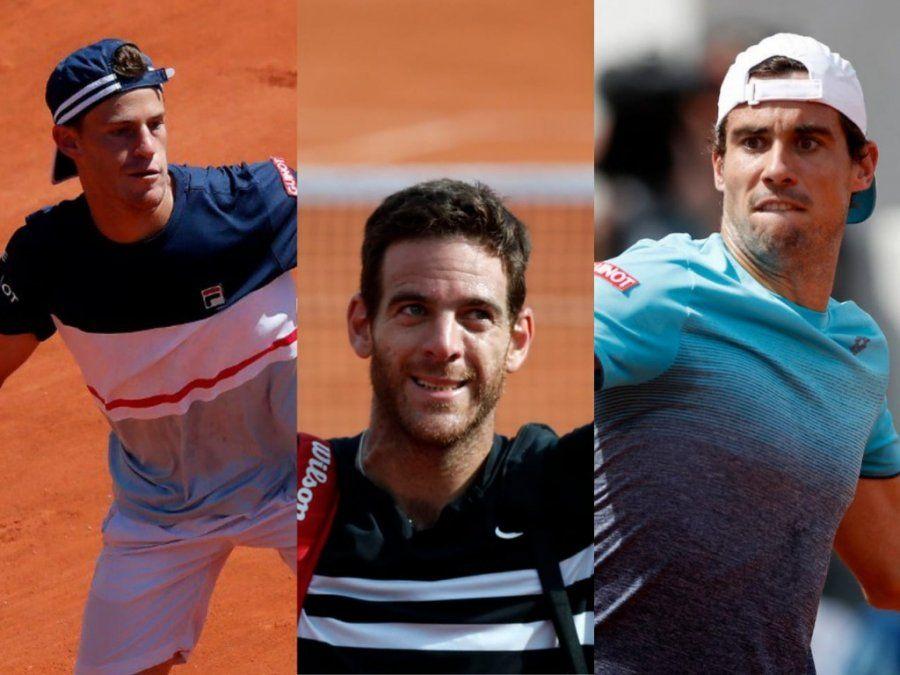 Los argentinos ya conocen sus rivales en Roland Garros