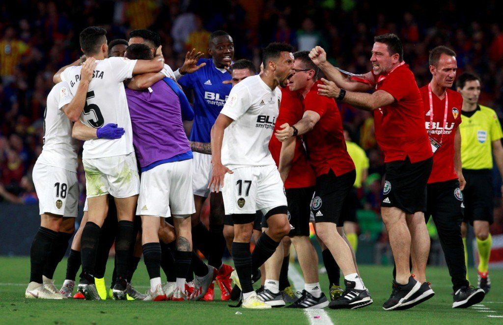Valencia le ganó al Barcelona y es el campeón de la Copa del Rey