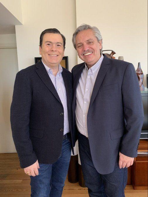 Gerardo Zamora se reunió con Alberto Fernández y le ratificó su apoyo