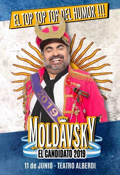 """Moldavsky en plena """"campaña humorística"""" llega a Tucumán"""