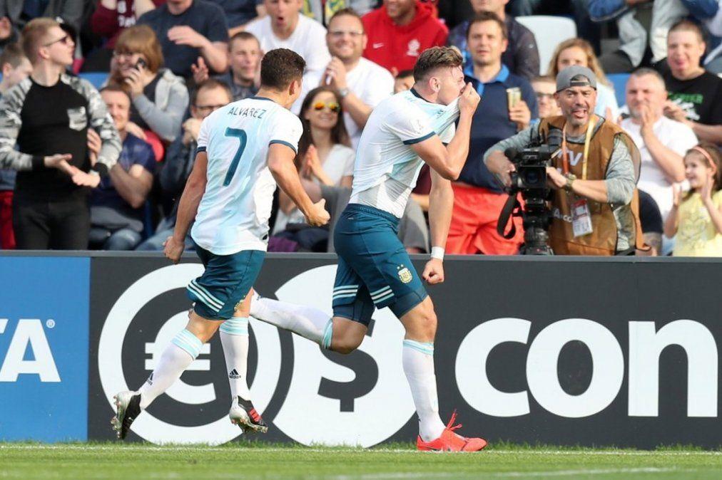 La efectividad argentina lo metió en los octavos del Mundial sub 20
