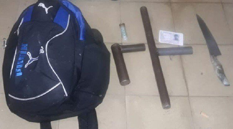 Tres jóvenes fueron demorados y les secuestraron armas
