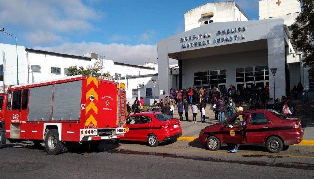 Un principio de incendio en el Materno Infantil de Salta provocó la intoxicación de nueve personas