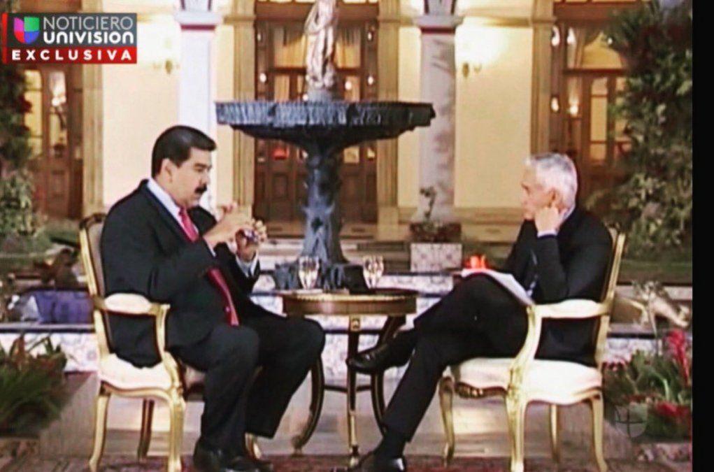 Difundieron la entrevista completa que suspendió Nicolás Maduro