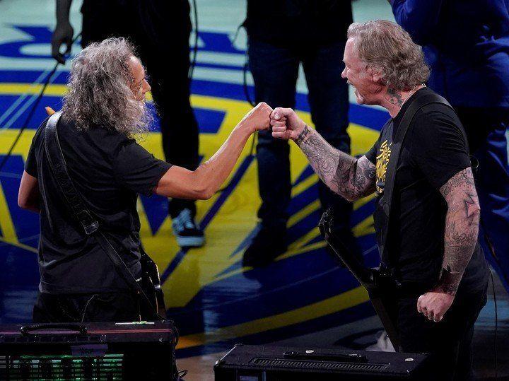 Metallica y una versión metalera del himno de EEUU en las Finales de la NBA
