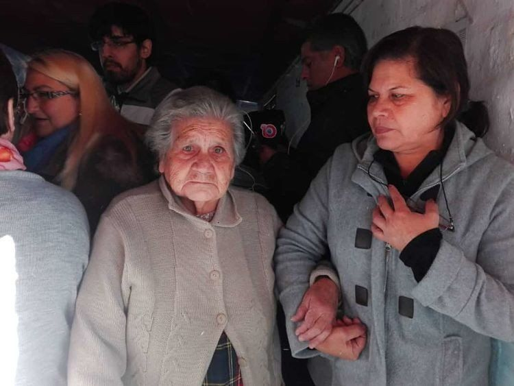 A sus 84 años, tuvo la voluntad de ir a votar