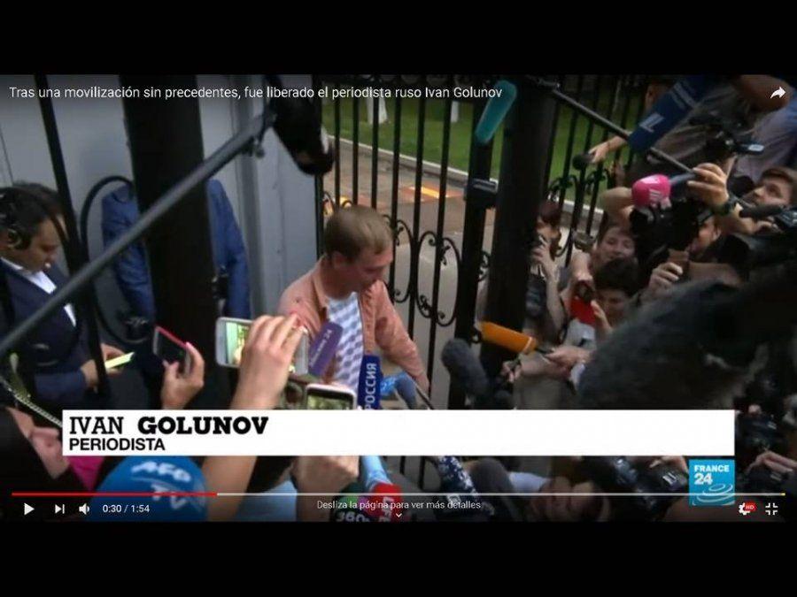 Tras una movilización sin precedentes, fue liberado el periodista ruso Ivan Golunov