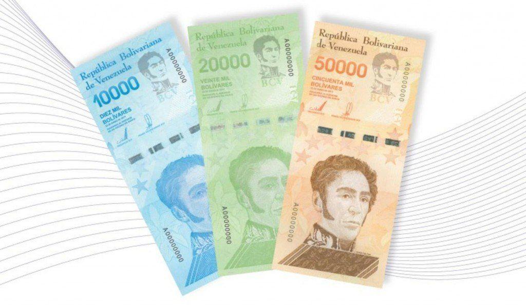 Entraron en uso tres nuevos billetes para la economía de Venezuela