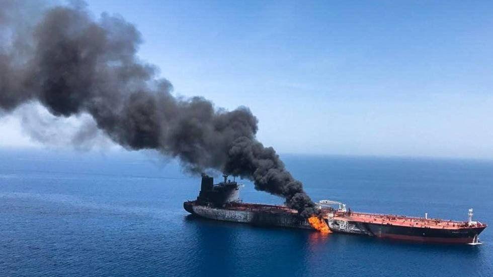 Estados Unidos acusa a Irán de los ataques a buques en el golfo de Omán