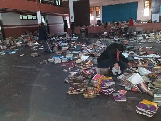 Se incendió una biblioteca escolar jujeña: los libros están todos quemados
