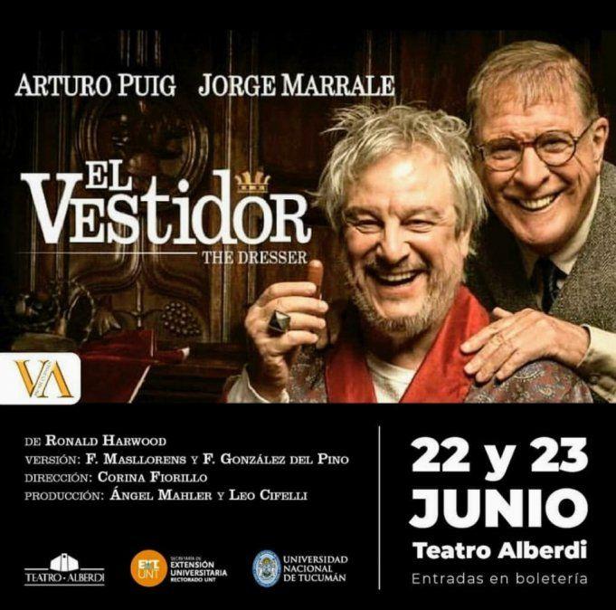 Jorge Marrale y Arturo Puig hacen El Vestidor