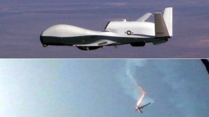 Irán derribó un avión no tripulado de Estados Unidos