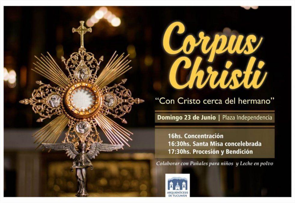 El domingo se celebrará la fiesta de Corpus Christi