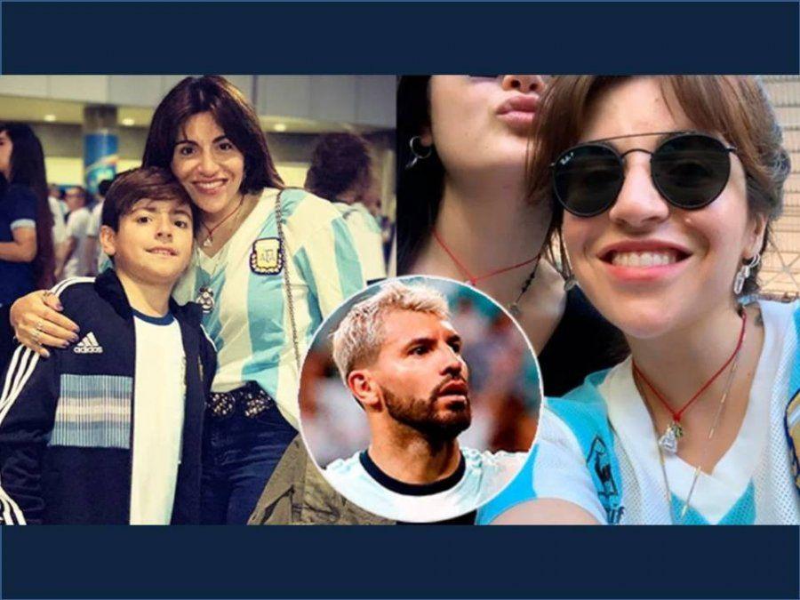Gianinna Maradona alentó al Kun Agüero junto a su hijo Benjamín: el mensaje para los que la tildaron de yeta