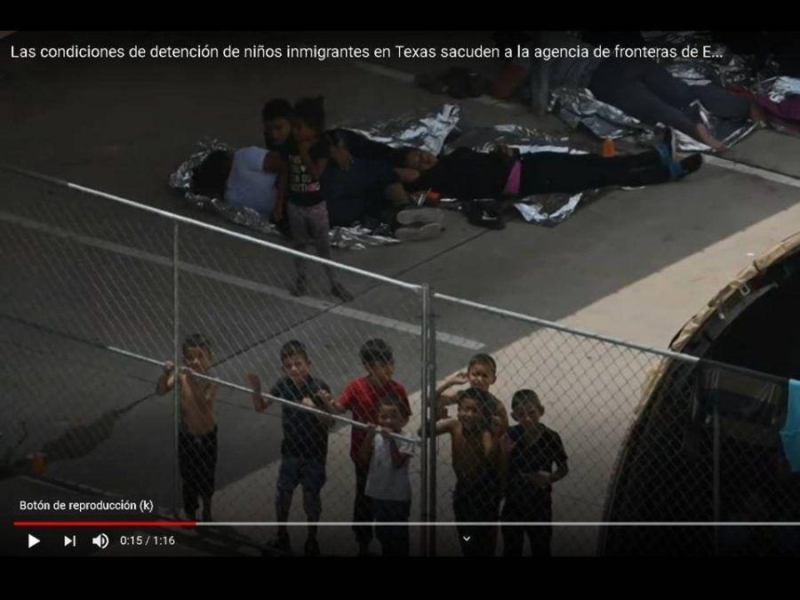 Las condiciones indignas de niños migrantes en un centro de detención sacuden a EE UU