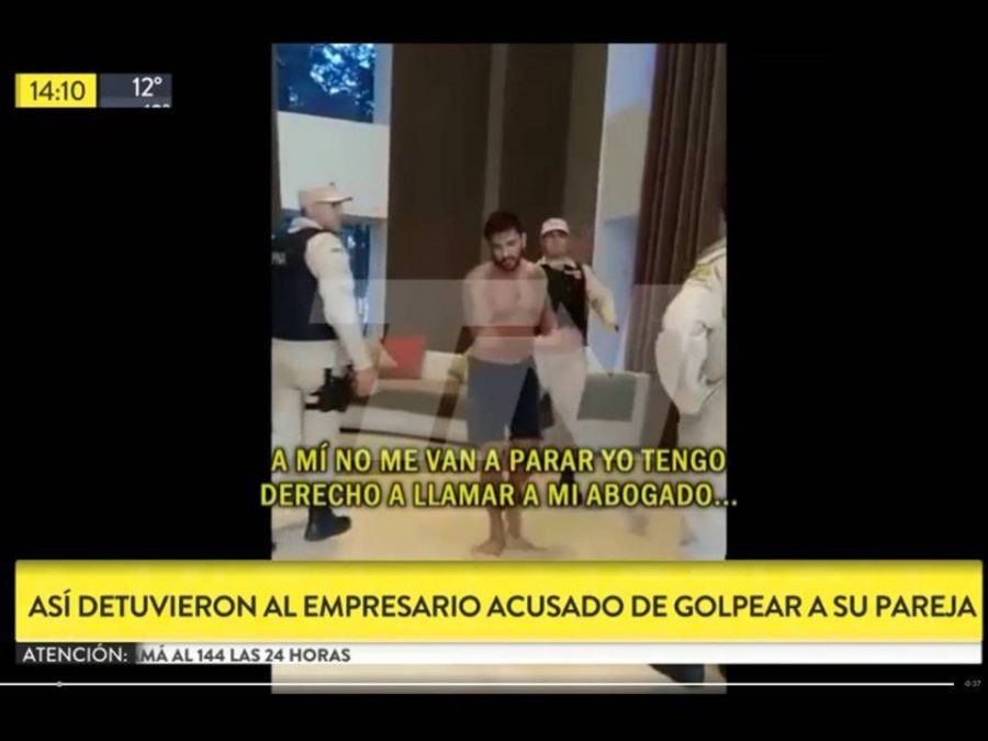 El empresario Mallorca Tebaldi acusado de golpear a su pareja atacó a 13 prefectos durante la detención