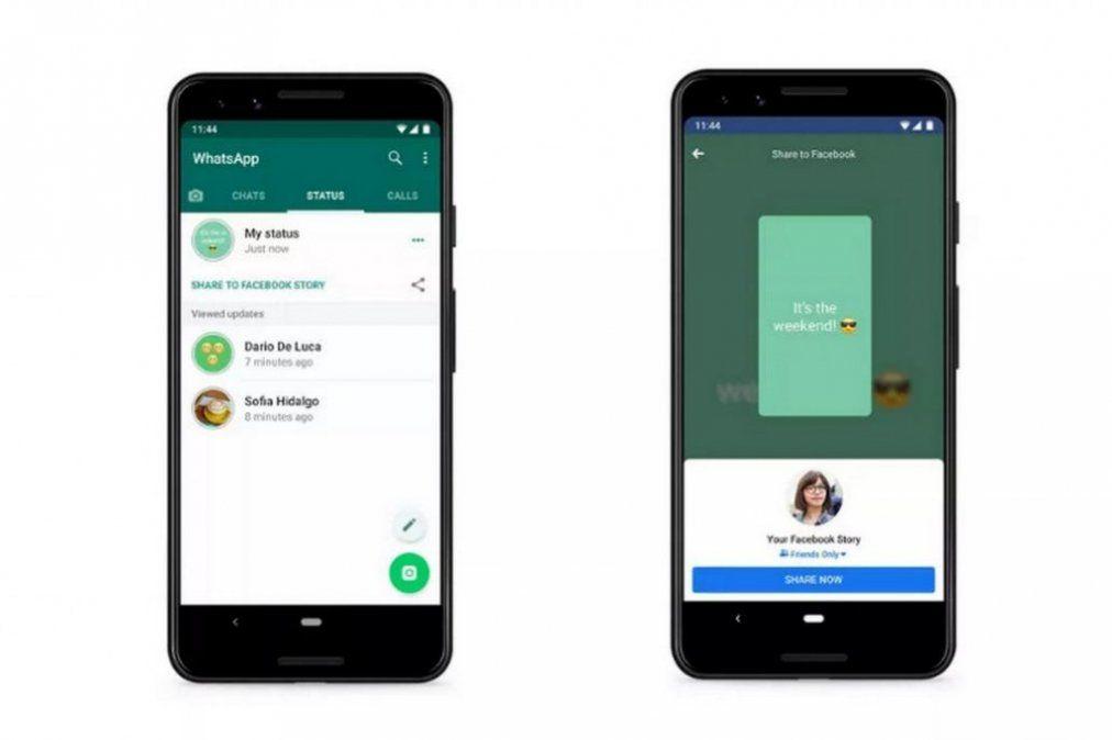 Los estados de WhatsApp se podrán compartir en las publicaciones de Facebook Stories
